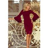 NUMOCO Ženska haljina 188-3 Crimson tamnocrvena
