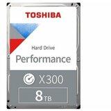 Toshiba 8TB 3.5 SATA III 256MB 7.200rpm HDWR180XZSTA N300 series hard disk  cene