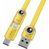 Remax data kabl Cutie za iPhone 6/6S/Micro USB/Type C RC-073th žuti 1m  Cene