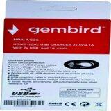 Gembird NPA AC25 punjac za telefone i tablete 5v 2.1A+1A 2xUSB +micro USB DATA kabl 1M263  cene