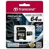 Transcend Micro SD 64GB SDHC Class10 UHS-I 300X w/SD adapter TS64GUSDU1 memorijska kartica Cene