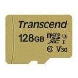 Transcend 128GB microSD w/adapter UHS-I U3, MLC, microSDXC 500S Read/Write 95/80 MB/s TS128GUSD500S memorijska kartica Cene