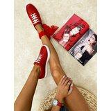Hop Hop 16739 - kožne patike lake - crvena  Cene