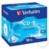 Verbatim CD-R 90MIN 800MB 43428 43427 VER 40X 10 PACK JC disk Cene