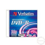 Verbatim DVD-R 43547 Single Slim Case, MattSilver 4.7GB/16x AZO+ disk Cene