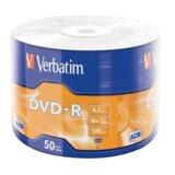 Verbatim DVD-R 16X 1/50 MATT SILVER AZO/WRAP  cene