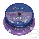 Verbatim DVD+R 4.7GB 16X 43500 disk Cene