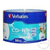 Verbatim CD-R PRINTABLE 700MB 52X 43794/WRAP 50/600 disk Cene