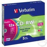 Verbatim CD-RW 700MB 43167 COLOR disk Cene