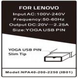 Gembird NPA40 200 2250 IB01 punjač za laptop 40W 20V 2.25A, USB Yellow PIN 778 Alt=IB04  cene