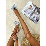 Hop Hop 16638 - ženske sandale kapila - srebrna