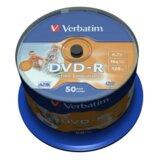 Verbatim DVD-R 16X PRINTABLE 1/50  cene