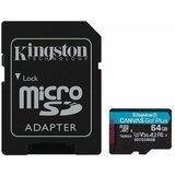 Kingston 64GB SDCG3/64GB microSDXC Class 10, UHS-I, U3, V30, A2, Canvas Go Plus memorijska kartica cene