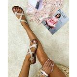 Hop Hop 16796 - kožne sandale rasika - bež  cene