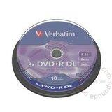 Verbatim DOUBLE LAYER 8.5GB DVD+R DL 8X 43666 disk Cene