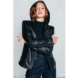 Mona ženska kožna jakna sa kapuljačom 8053501-0  Cene