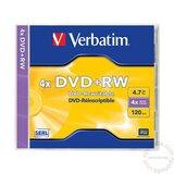 Verbatim DVD+RW 4.7GB 4X 43228 43229 disk Cene