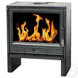 Plamen Kamin na čvrsto gorivo BARUN, Blacko sjajno emajliran peć za grejanje Cene