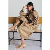 Mona midi haljina s puf rukavima 54114501-1