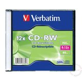 Verbatim CD-RW 700MB 8-12X 43148 43147 disk Cene