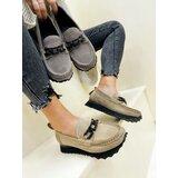 Hop Hop 17696 - kožne cipele amani - svetlo bež