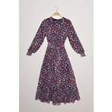 Trendyol Lined Chiffon Dress Dress plava   siva   tamnocrvena  Cene