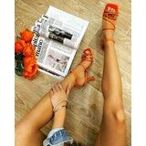 Hop Hop 14849 - sandale sa kaiševima na tanku štiklu - narandžaste  cene