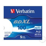 Verbatim BLU-RAY 100GB/XL/BD-R 4X PRINT JC 5PAK 43789 disk Cene