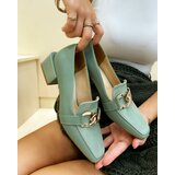 Hop Hop 17689 - ženske cipele rajata - zelena