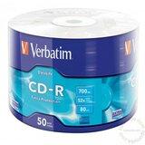 Verbatim Cd-R 700Mb 52X 50S disk Cene