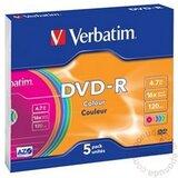 Verbatim DVD-R 4.7GB 16X COLOR 43557 disk cene