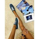 Hop Hop 16737 - kožne patike lake - plava  Cene