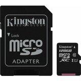 Kingston micro SD 128GB Class 10, UHS-I 10MB/s + adapter, SDCS/128GB memorijska kartica Cene