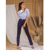 AMC ženske pantalone 045Q teget