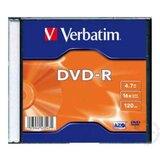 Verbatim DVD-R 4.7GB 16X SLIM CASE 43547 disk Cene