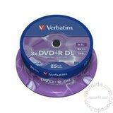 Verbatim DOUBLE LAYER 8.5GB DVD+R DL 8X 43757 disk Cene