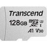 Transcend 128GB microSDXC I, UHS-I U3 V30, A1Class 10 (with adapter) 95/40 MB/s TS128GUSD300S-A memorijska kartica  Cene