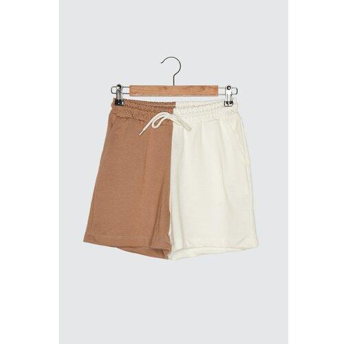 Trendyol Ženski šorts Two-toned siva   braon  Cene