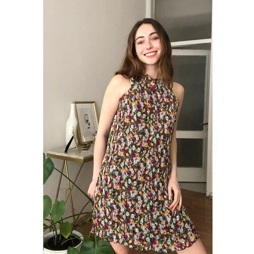 Trendyol Multi-Color Pylon Dress braon | narandžasta | krem  Cene