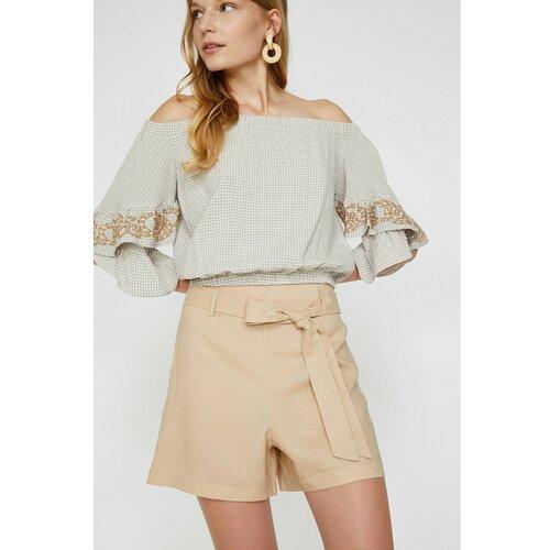Koton Žene Ecru pojas detaljne kratke hlače  Cene