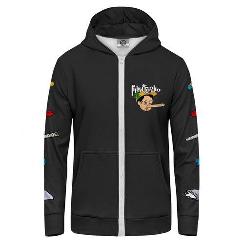 Mr. GUGU & Miss GO Unisex hoodie HKZ-U-PC 1750 crna  Cene