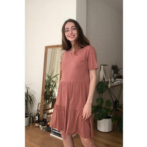 Trendyol Ženska haljina Basic smeđa tamnocrvena | pink  Cene
