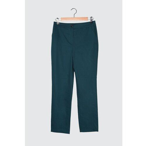 Trendyol Smaragdno zelene pantalone s visokim strukom  Cene