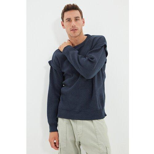 Trendyol Indigo muški džemper s velikim izrezom za vrat  Cene