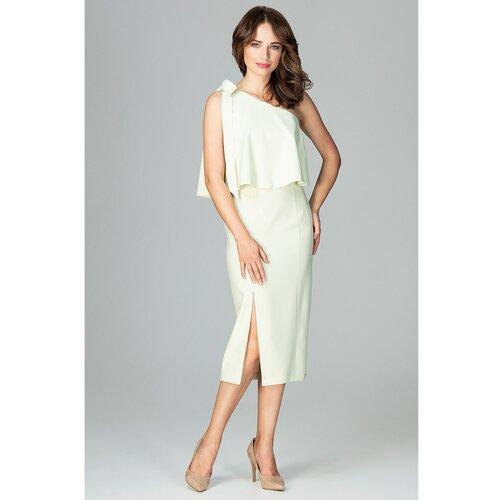 Lenitif Ženska haljina K489 bela | siva  Cene