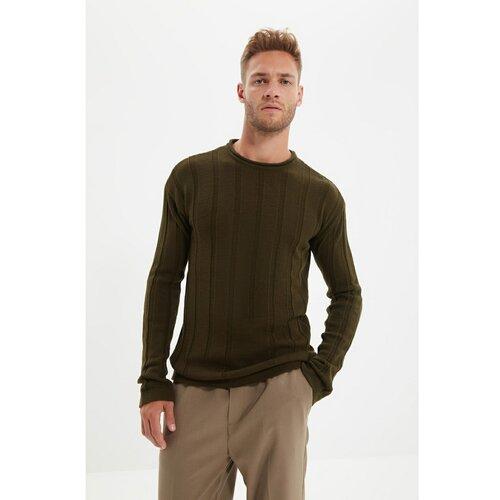 Trendyol Pleteni džemper s jaknom za muškarce, redovito pristaje, s hlačama od Khakija  Cene
