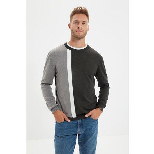 Trendyol Muški pleteni džemper sa antracitnim vratom  Cene