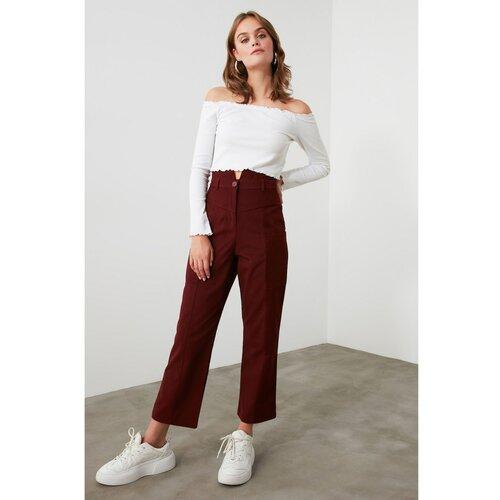 Trendyol Bordeaux džepne detaljne hlače sive boje crveno crveno  Cene