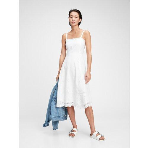 GAP Midi haljina s ušicama s ušicama GAP Šaty  Cene