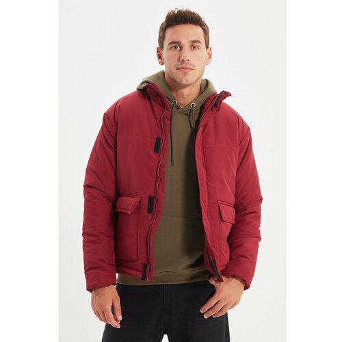 Trendyol Claret crvena muška ogrlica sa uspravnim rukavima i džepovima s džepovima i džepom u džepu Slike